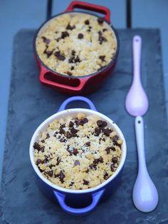 Crumble pépites de chocolat à la banane : Recette de Crumble pépites de chocolat à la banane - Marmiton