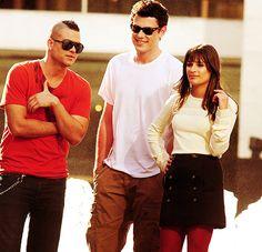 Mark Salling, Cory Monteith & Lea Michele