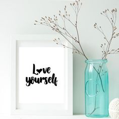 Love yourself, Self care printables, Gift from mentor, Self care gift, Anxiety aids, Stress relief, Divorce gift, Mindfulness, Gift for her    Welcome to my shop!    Printable posters are the new way of wall decorating.  They are one-of-a-kind and inexpensive to make gifts for family and friends. They can also be used to decorate/refresh the look of any room or office space. The digital file is delivered in minutes, NO waiting, NO shipping fees!    Print at home, online or at your local…