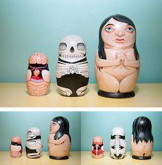 bauldoff:    I just love these brilliant Anatomical Nesting Dolls by Stuntkid, illustrator Jason Levesque.  via Urban Taster, Designspiration