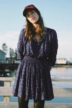 Kimchi Blue Isabella Smocked-Waist Mini Dress