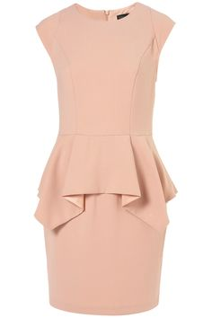 peplum pencil dress, Topshop  This needs to get in my closet... NOW! Right now. Right this instant! I'm waiting... watching my closet... why hasn't it appeared yet?