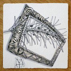 drawn by Zentangle® cofounder: Maria Thomas Zentangle: A Frame of Mine [d]