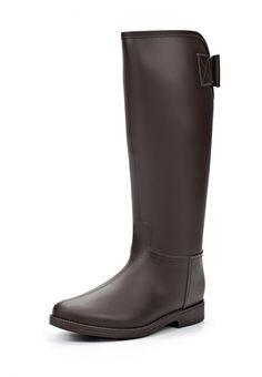 Резиновые сапоги Mon Ami женские. Цвет: коричневый. Материал: резина. Сезон: Осень-зима 2014/2015. С бесплатной доставкой и примеркой на Lamoda. http://j.mp/1pjLrDI