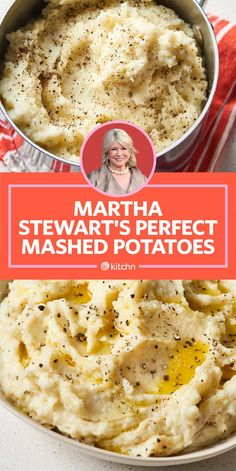 I Tried Martha Stewart's Mashed Potatoes We tried Martha Stewart's perfect mashed potatoes to see how they compared to Alton Brown, Ina Garten and Ree Drummond. Which will we choose for our Thanksgiving side dish? Perfect Mashed Potatoes, Homemade Mashed Potatoes, Making Mashed Potatoes, Ree Drummond Mashed Potatoes, Mashed Potatoes Recipe Martha Stewart, Flavored Mashed Potatoes Recipe, Mashed Potatoes Heavy Cream, Ina Garten Mashed Potatoes, Martha Stewart Scalloped Potatoes