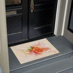 #Strawberry Splash! Watercolor Doormat - #doormats #home & #living