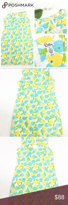 Lilly Pulitzer White Citron Lemon Print Dress Lilly Pulitzer White Citron Lemon Print Dress in size 16. Excellent condition - no flaws. Measurements: bust: about 20.5 inches; length: about 39 inches. This is an adorable white tag Lilly dress! Lilly Pulitzer Dresses