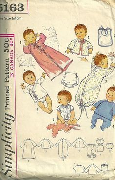 Simplicity 5163 Infants Layette by patterngate, via Flickr