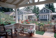 cottage plans, small house plans, cabin plans, small homes designed by Ross Chapin Co Housing Community, Tiny House Community, Pocket Neighborhood, Tiny House Village, New Urbanism, Small Cottages, Small Cabins, Micro House, Small House Design