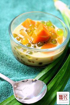 Bubur Cha Cha (Sweet Potato And Sago In Coconut Milk) - popular sweet, smooth and creamy Malaysian dessert.