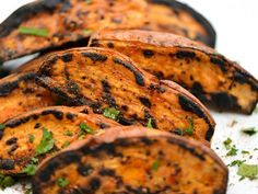 A richly sweet and creamy interior, matched with a crisp, browned crust, make these grilled sweet potatoes pretty darn incredible.