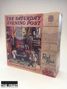 Enjoy putting together this 1000 piece square puzzle featuring Norman Rockwell's Road Block, as featured in The Saturday Evening Post. This puzzle is made of recycled material and is suitable for ages 13 and up. ($15.95)