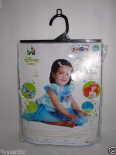 Disney-Baby-Girl-ARIEL-Halloween-Costume-Size-6-12-M-My-First-Costume-NEW