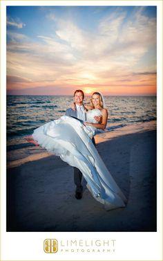 Bride, Groom, Sunset, Portrait, Tradewinds Island Resort, Wedding Photography, Limelight Photography, www.stepintothelimelight.com