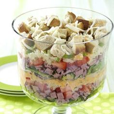 Layered Salad Reuben-Style from Taste of Home -- shared by Amy Smith of Avon, Connecticut