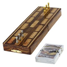 Game Cribbage Boards And Pegs Set With Storage: This is the perfect gift for a discerning cribbage player with an eye for quality.