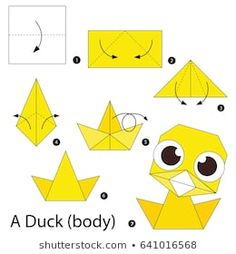 Step by step instructions how to make origami A Duck(body). Step by step instructions how to make origami A Duck(body). Origami Design, Origami Duck, Instruções Origami, Origami Paper Folding, Origami Butterfly, Paper Crafts Origami, Origami Flowers, Origami Hearts, Dollar Origami