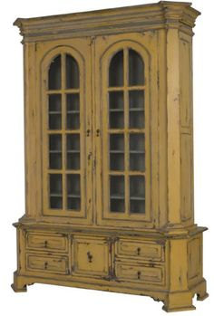Library Bookcase, distressed, Shabby chic, cottage and French Country