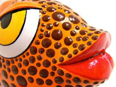 Papier mache pop art fish, crafted by hand one by one.
