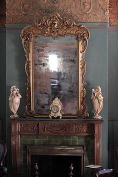 Haunted Mirror inside a Savannah Mansion (USA).