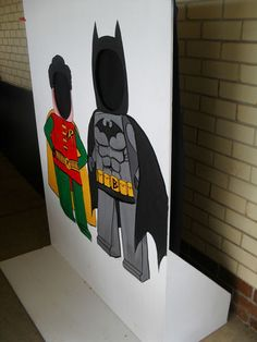 LEGO BATMAN & ROBIN game for a birthday party/ photo board or sponge toss | eBay