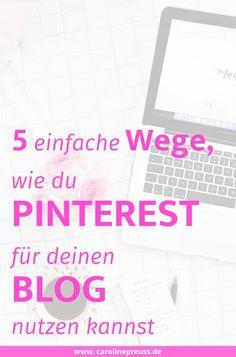 """5 verblüffend einfache Wege, wie du Pinterest für deinen Blog oder Business nutzt.  Pinterest ist eine Plattform, auf der man Bilder aus dem Netz speichern und diese in sogenannten """"Boards"""" organisieren kann.  Logisch, dass ein Pin mit mehr als 1000 Re-Pins auch viele Klicks auf das Bild erhält. Das führt dann natürlich dazu, dass die Quelle viele Klicks und neue Besucher erhält."""