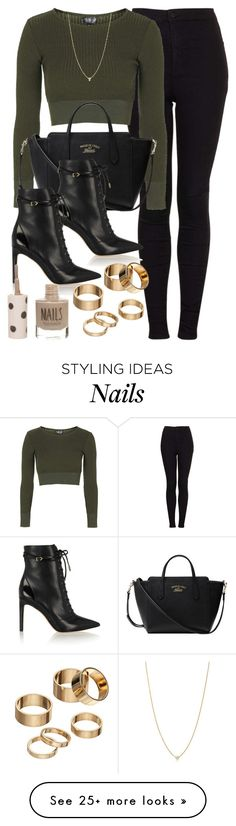 """""""Style #9778"""" by vany-alvarado on Polyvore featuring Topshop, Gucci, Sam Edelman, Apt. 9, Elsa Peretti, women's clothing, women, female, woman and misses"""
