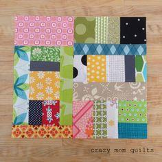 crazy mom quilts: scrap vortex QAL week 3