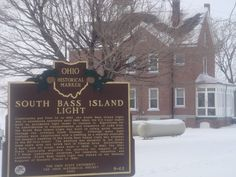 South Bass Island Lighthouse at Put-in-Bay, Ohio in the winter.