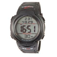 Este relógio é perfeito para você que é moderno e estiloso!Os relógios Surf more são produzidos com alto controle de qualidade, reúnem bom gosto, qualidade e praticidade, são acessórios perfeitos para mais diversas ocasiões.Relógio masculino Surf More digital esportivo com alarme, cronometro e iluminação noturna, resistente a água 5 ATM - Pipeline 1200491M