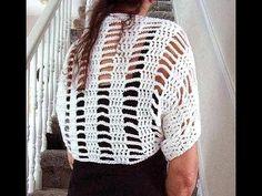 Crochet White shrug, how to diy, women's small summer shrug, - YouTube