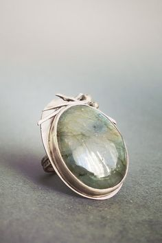 Labradorite Oxidized Sterling Silver Ring