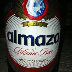 Almaza, ya de vuelta a Madrid probando esta cerveza libanesa. No esta mal pero no es especialmente reseñable.