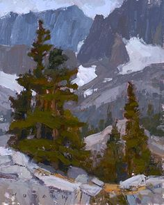 Pine and Stone by Jim Wodark Oil ~ 10 x 8