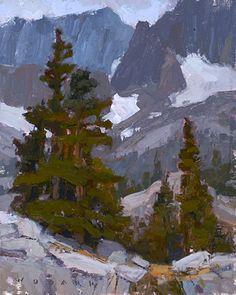 Pine and Stone by Jim Wodark Oil ~ 10 x 8