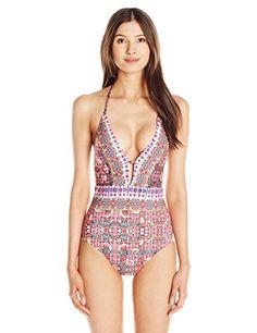 Nanette Lepore Women's Sunset Shibori Goddess One Piece Swimsuit - http://darrenblogs.com/2016/05/nanette-lepore-womens-sunset-shibori-goddess-one-piece-swimsuit/