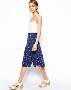New Look Ditsy Print Culotte