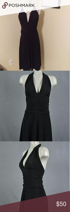 EUC! White House Black Market Black Halter Stretch EUC! White House Black Market Black Halter Stretch Woman Dress?. Sz. 6 The perfect little black dress for any occasion. Color black This will make you a show stopper White House Black Market Dresses