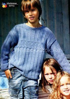 Свитер для мальчика   Вязание для детей   Вязание спицами и крючком. Схемы вязания.