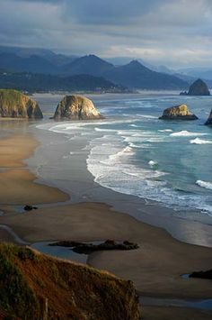 Lovely Beach of Ecola State Park - Oregon Paradis Sur Terre, Parcs, Oregon Usa, State Of Oregon, Oregon Coast, Oregon Nature, Canon Beach Oregon, Oregon Landscape, Beach Landscape