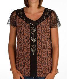'Daytrip Pieced Chiffon Top' #buckle #fashion  www.buckle.com