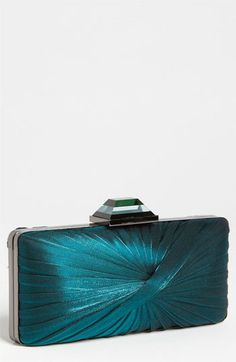 Pleated Clutch in Teal
