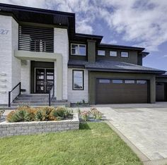 Modelo de fachada de casa rústica moderna