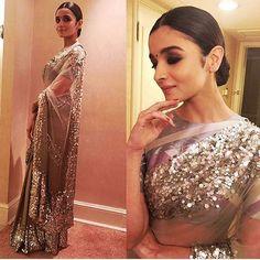 Classy sequinned saree