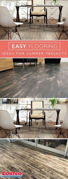 Renovating your home this summer? Check out these Easy Flooring Ideas from Costco.com for the perfect summer project. Whether you're looking to update your kitchen, garage, or office, you're sure to find the ideal material to freshen your space.
