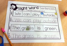 Great center that practices sight words, reading, and writing!