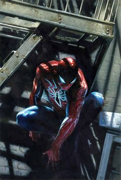 Spider-Man by Alex Ross (Marvel comics) Marvel Comics, Comics Spiderman, Heros Comics, Bd Comics, Ms Marvel, Marvel Heroes, Batman, Comic Book Characters, Comic Book Heroes