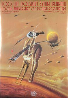 Original Vintage Poster Polish Art 100 Anniversary Exhibition 1993 Surreal Space | eBay