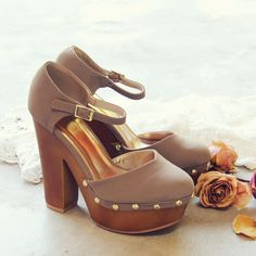 Du Jour Wedges, Sweet 70's Inspired Wedges from Spool 72. | Spool No.72