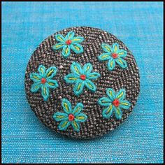Embroidered button | Flickr - Photo Sharing!